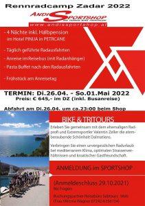 Rennradcamp Zadar 2022
